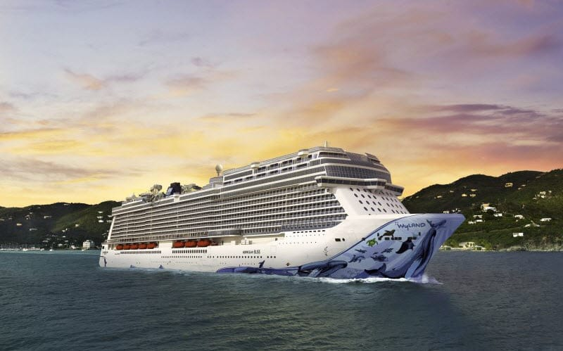 ncl_Norwegian Bliss_Aerial_Caribbean_Sunset