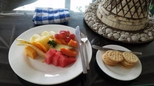 Afternoon treat compliments of our butlers - Adrian and Ash - Sandals Royal Plantation - Ocho Rios - Jamaica