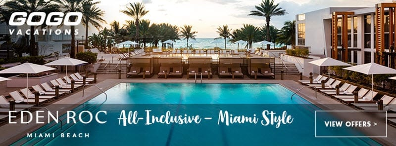 GoGo Vacations - Eden Roc Miami - Vacation Package