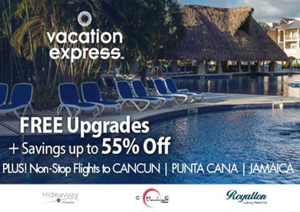 vacation express free upgrades